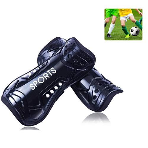 auvstar Espinilleras de fútbol para niños y jóvenes, para