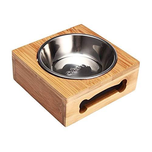 MYYXGS Hundenapfschale Mit Doppelter Edelstahl-EinzelschüSsel Hundenapf Regal Wasserschale Feeder Haustier Katze Futter SchüSsel Hund Trinkschale