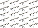 Tirador de acero inoxidable para armarios de cocina y para cajones de 96 mm y 136 mm de longitud