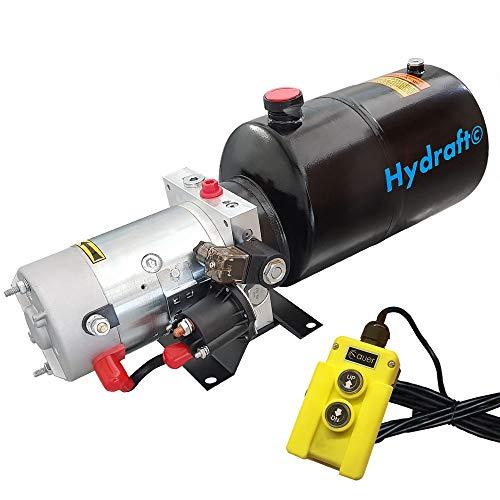 Hydraulikaggregat HYDRAFT, Hydraulikpumpe 12 V 180 bar 2000 Watt mit 6 Liter Stahltank