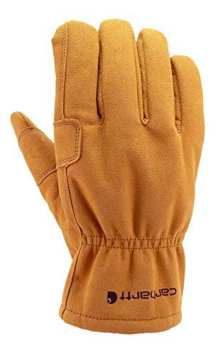 Carhartt Men's Leather Fencer Work Glove, Brown, Medium