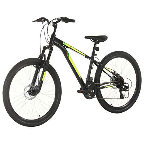 Tidyard Vélo de Montagne 21 Vitesses Roues de 27,5 Pouces 38 cm Noir, VTT 27.5' Vélo pour Adulte Freins à Disque
