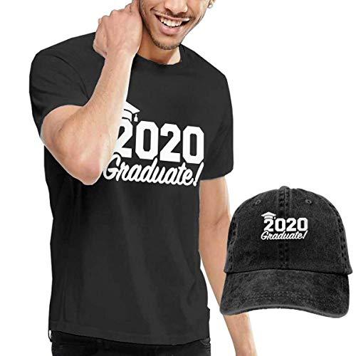 Hdadwy Conjunto Combinado de Camiseta y Gorra de béisbol Lavada de graduación 2020