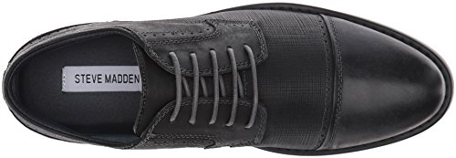Steve Madden Men's Transmit Oxford, Black Leather, 10.5 M US