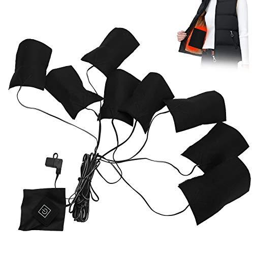 【Especial de Año Nuevo 2021】Almohadillas térmicas eléctricas USB Tela 3 engranajes Fibra...