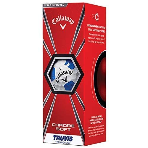 Callaway 2018 Chroom Soft Truvis Graphen golfballen (wit/blauw) - 1 mouw (3 ballen)