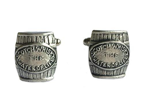 Manschettenknöpfe in Whisky-Fassform, handgefertigt in England.