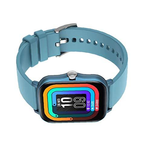 IUwnHceE Inteligente Venda de Reloj del Reloj del perseguidor de la Aptitud Y20 Impermeable SmartWatch táctil Completa de presión Arterial del corazón Pantalla Detección Tasa Hombres Mujeres Azul