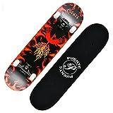 Skateboard Skateboard, 31'x 8' complète Pro Skateboard Double Coup de Pied 8 Couche Housses d'érable d'érable Canadien Skate Skate Board pour débutant, Cadeau d'anniversaire pour Enfants garçons fill