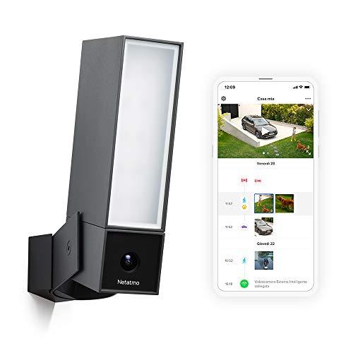 Netatmo Telecamera Wifi Esterno, Luce Integrata, Sensore Di Movimento, Visione Notturna, Senza abbonamenti, NOC01-IT Presence