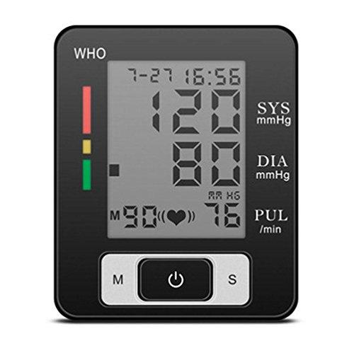 HRRH Handgelenk-Blutdruckmessgerät 90 Duo Group Memory-Blutdruck Warnung-Arrhythmie Blutdruckmessgerät Intelligentes elektronisches LCD-Display exakt für älteren Blutdruckmessgerät