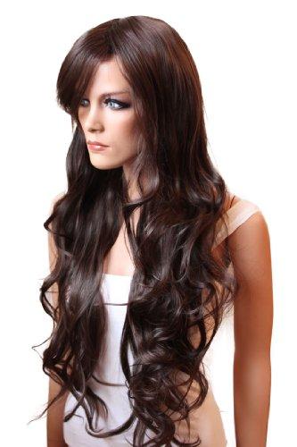 Prettyshop - Perruque pour femme, cheveux longs ondulés, résistante, plusieurs couleurs et styles disponibles marrone scuro # 2/33 FS836a