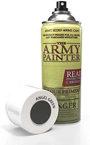 The Army Painter Color Primer, Matt Black, 400 ml, 13.5 oz - Acrylic Spray Undercoat for Miniature Painting
