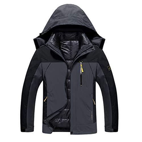 YXMYMM Veste imperméable Packable Veste imperméable Hiver Softshell Mid-Course à Pied Poids 3-in-1 Raincoat,B_Men-XXXL