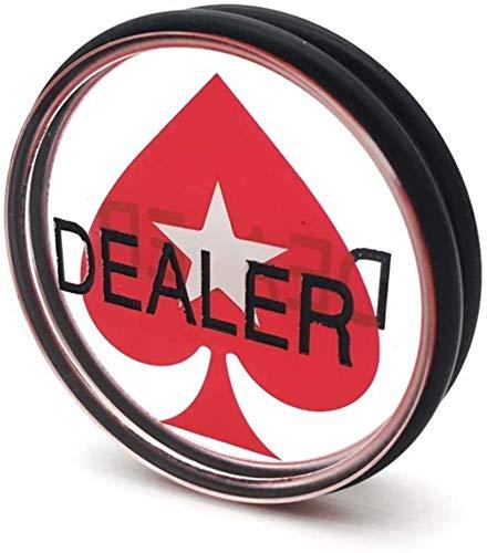 Capacity Botón de Distribuidor de Casino acrílico Texas Holdem Baccarat Poker Tarjetas de póquer Acrílico Anillo de Goma Redondo Poker Distribuidor Botón 3 Pulgadas