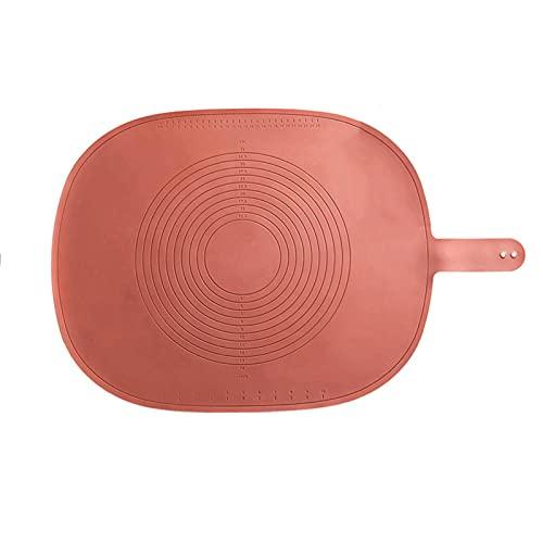 HYISHION Silikon-Mehl-Pad in Lebensmittelqualität, geschmacksneutral, groß, antihaftbeschichtet, verdickt, Backunterlage (Farbe: B) Skyjie (Farbe: A)