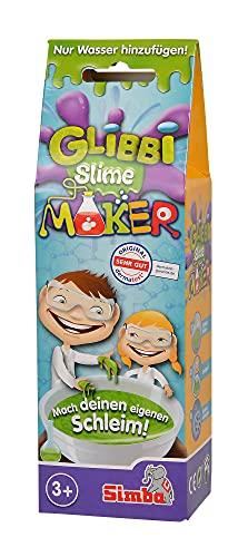 Simba 105953226 - Glibbi Slime Maker, 3-fach sortiert, es wird nur ein Artikel geliefert, Pulver verwandelt Wasser in Schleim, Glibber, in einer Schüssel anrühren, Experiment, 50 g, ab 3 Jahren