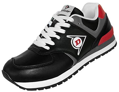 Dunlop Arbeitsschuhe OD 1 Berufs-Schuhe ohne Stahlkappe EN 347, rutschfeste Sohle, Schwarz-Rot, Gr. 45
