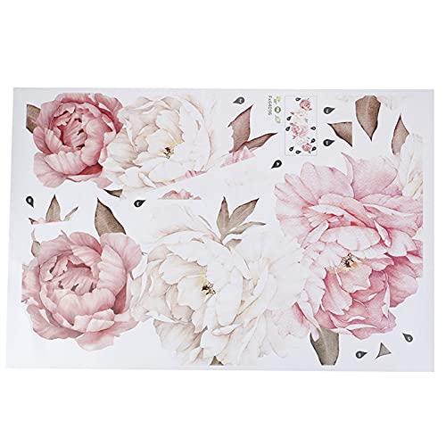 ZZLLFF Pegatina de la Pared de la Flor Grande de la Peonía Romántico Dormitorio Display Pantalla Arts DIY Decoración del hogar Nuevo