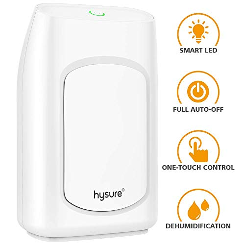 Great Features Of Hysure Dehumidifier,700ml Compact Deshumidificador 1200 Cubic Feet(215 sq ft) Quie...