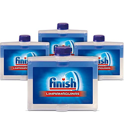 Finish Limpiamáquinas - Líquido para lavavajillas contra cal, grasa y mal olor - 4 Unidades
