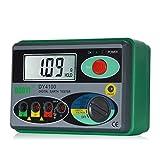 RFElettronica, Duoyi DY4100 - Megohmmetro 0-2000 ohmios Tester de Resistencia Tester de Tierra Digital Instrumento de Resistencia de Tierra, Comprobador de Precisión