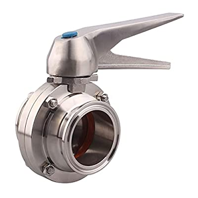 DERNORD Butterfly Valve with Trigger Handle Stainless Steel 304 Tri Clamp Clover (2 Inch Tri Clamp Butterfly Valve) by DERNORD