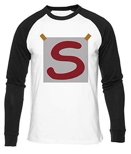 Super S Camiseta De Béisbol Hombres Mujeres Unisex Blanco Cuello