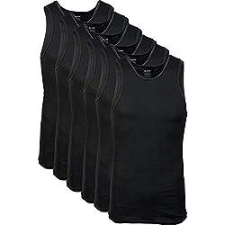 cheap Men's Gildan Tank Top, Tank Top, Black (6 Pieces), Plus Size XX