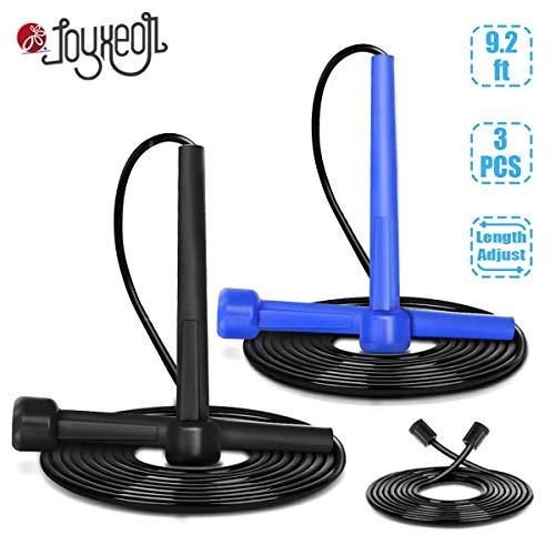 JOYXEON Springseil Set Speed Rope mit Ersatzseil für Ausdauersport Homeworkout HIIT Intervalltraining