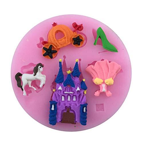 NTBAY 1PCS Castle Pumpkin Schuhe mit hohen AbsätzenForm Silikonform, Für Fondant-Kuchenform,Werkzeuge,Form, Zuckerwerkzeug