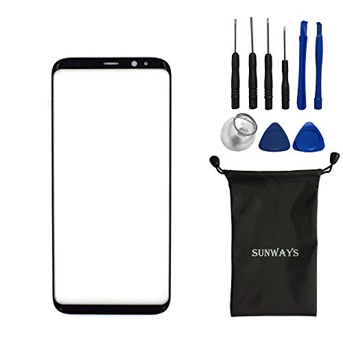 sunways Outer Glass Lens Screen Replacement for Samsung Galaxy S8 G950F G950U G950A G950P G950T G950V(5.8')