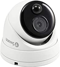 Swann Indoor/Outdoor Home Security Camera, 1080p PIR Dome Cam with Motion Sensor, Infrared Night Vision, Thermal Heat Sensing, BNC Wired Add to DVR, SWPRO-1080MSD