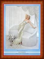 ポスター リチャード アベドン Marilyn Monroe as Jean Harlow 1958年 額装品 ウッドハイグレードフレーム(ナチュラル)