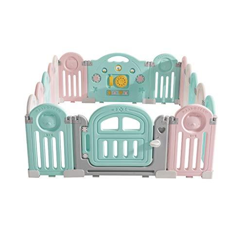 LIUFS-Clôture Clôture de jeu pliable pour enfants Safe Home Crawling Walk Marche Clôture protectrice incassable (taille : 16+2)