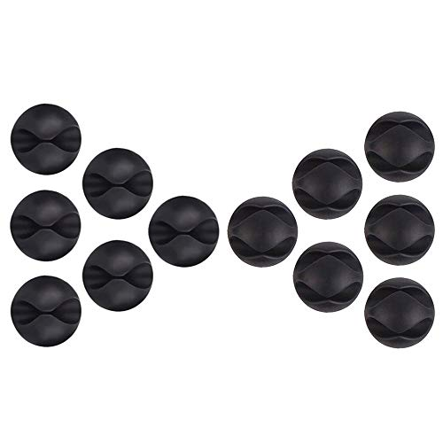 U-horizon 6 + 6 Cable Clips, Black