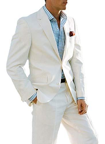 Botong 3 Pieces Wedding Suits Shawl Lapel Men Suits Groomsman Suit Formal Suits White Black 42 Regular / 36 Waist
