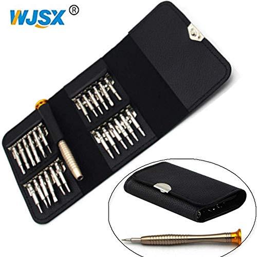 WJSX 25-in-1 kleine Mini-Präzisions-Schraubendreher-Set für Uhren und Schmuck Elektronische Reparatur, Multifunktions-Schraubendreher, Schraubendreher-Set ist gut für elektronische Projekte