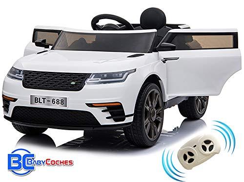 BC BABY COCHES Urban SUV Coche eléctrico para niñas y niños con batería 12v y Mando Control teledirigido para Padres (Blanco)