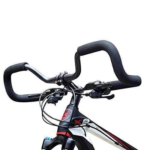 Huntforgold Lenkerbügel Alu 3DSchmetterling Fahrrad Lenker 31,8mm mit Schwamm Schaumrohr für Mountainbike Straße Fahrrad