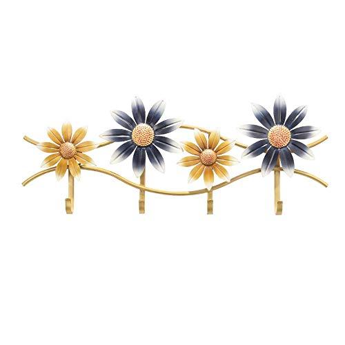 OH Flor Decorativa de la Pared Perchero con 4 Gancho para Colgar Abrigos Sombrero Batas de Toalla de Cerco para la Cocina, Dormitorio, Cuarto de Baño, Puerta de Entrada habitación