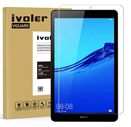 ivoler Screen Protector for Huawei MediaPad M5 Lite 8 inch, Tempered Glass Film for Huawei MediaPad M5 Lite 8 inch, [9H Hardness] [Anti-Scratch] [Bubble Free] [Crystal Clear]