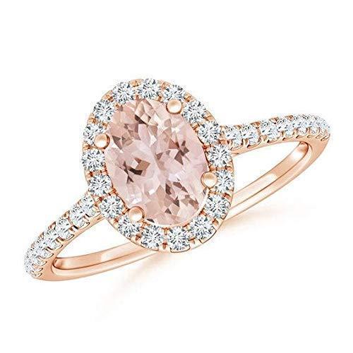 14k Rose Gold Engagement Ring Peach Sapphire Engagement Ring 1.79 Carat Peach Pink Sapphire Ring