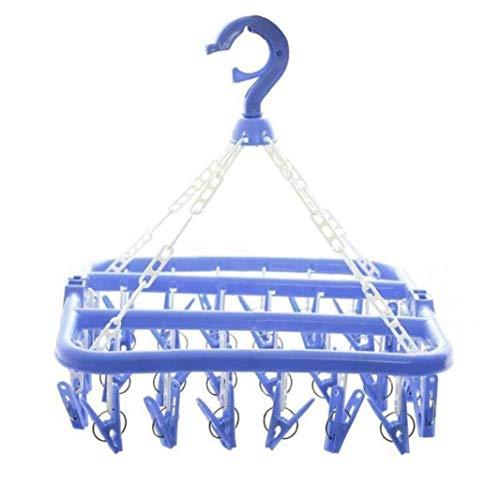 Lankater Wäschebügel Wäschetrockner Faltbare Clip Und Drip Aufhänger 32 Pins Wäscheständer Socken-aufhänger