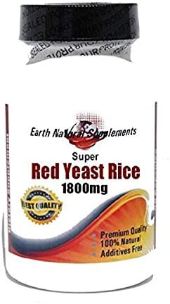 Super Red Yeast Rice 1800mg 180 100% by Ear - Cheap mail Regular discount order specialty store Capsules Natural