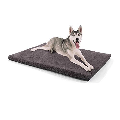 Brunolie Luna hondendeken – Orthopedisch, Ademend en wasbaar, Hondendeken met gewrichtsbeschermend geheugenschuim, Donkergrijs, Maat XL, 120 x 85 x 5cm