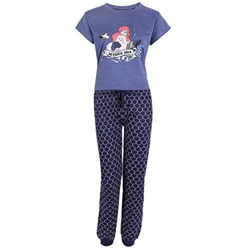 Blauer Pyjama Ariel die Meerjungfrau Disney - S