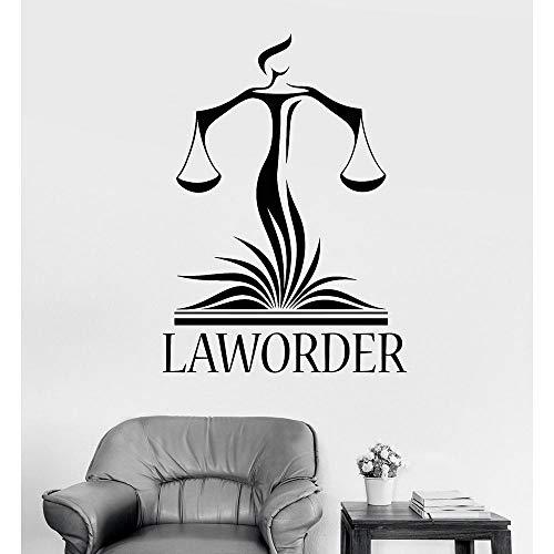 Anwaltskanzlei Wanddekor Abziehbilder Anwalt Gerechtigkeit Waage Gericht Aufkleber Modern Home Interior Decoration Wallpaper 56x77cm