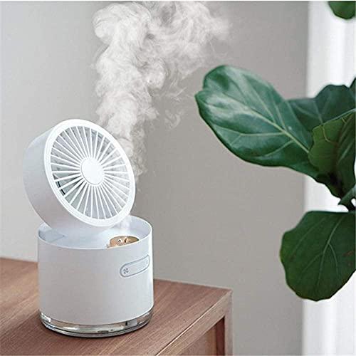 MUMUMI Mini Ventilador, Ventilador de Aerosol Plegable Alenamiento de Escritorio Usb Purificante Hidratante,Verde,Ventilador