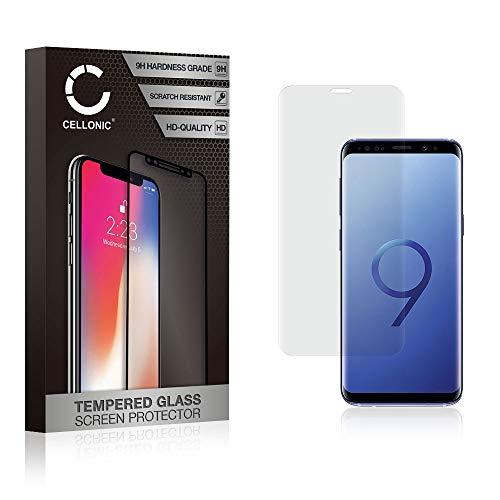 CELLONIC® Cristal Protector de la Pantalla Compatible con Samsung Galaxy S9 (SM-G960) (3D Full Cover, 0,33mm, 9H, Alta Transparencia) - Vidrio Templado Blindado Protector de Pantalla Tempered Glass